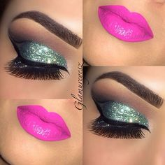 Glitter and glam makeup