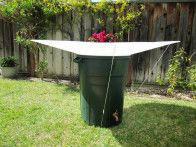 Free standing water collection - great for those of us without gutters.