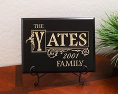 """Timber Creek Design Decorative Carved Wood Sign Personalized with Family Name in Block with Decorative Border, Year Established and Family 3D Carved 12""""x9"""" Black - Indoor TimberCreekDesign http://www.amazon.com/dp/B004THC17U/ref=cm_sw_r_pi_dp_lig0wb0FZSMJ3"""