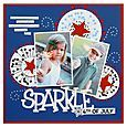 4th of July Sparkle page #scrapbooking