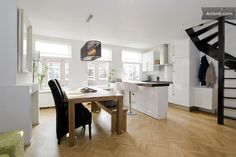 Modern living area and kitchen-Amsterdam