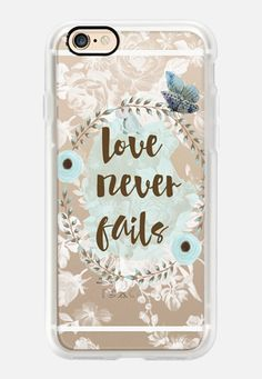 Love Never Fails Casetify iPhone 7 Case and Other iPhone Covers - TITLE by Li Zamperini | #Casetify