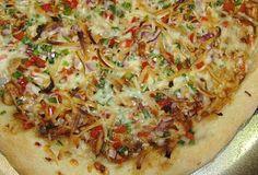 BBQ Chicken Pizza with Cilantro Lime Drizzle