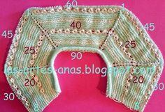 Materiales para hacer este jubón :Agujas del 2 Agujas del 2 y medio Lana bebé Algodón O PERLÉ COMENZAR MONTANDO 90 PUNTOS con las agujas ... [] #<br/> # #Work,<br/> # #Baby #Clothes,<br/> # #Tissues #Drink,<br/> # #Of #Agujas,<br/> # #Dressing #Case,<br/> # #Jacket<br/>