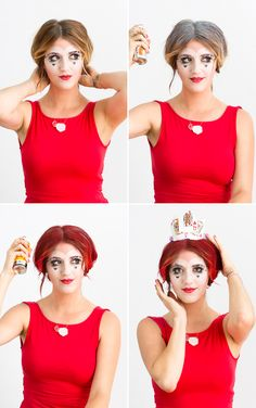 Dress up as the Queen of Hearts for Halloween.