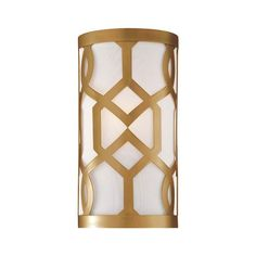 Jennings Aged Brass One Light Sconce By Libby Langdon Crystorama Flush To Wall Wall Sconce