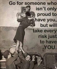 Take every risk just to have YOU