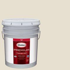 Glidden Premium 5 gal. #HDGWN57 Meeting House White Flat Interior Paint with Primer