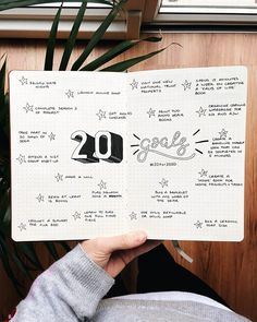 My own 20 for 2020 goals #20for2020 #bujoinspiration #goalsetting
