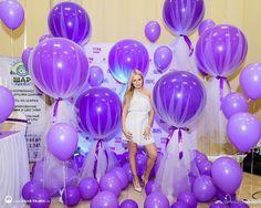 Воздушные шары, декорированные фатином - Интересное для декора - Сообщество декораторов текстилем и флористов