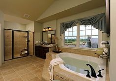 Toll Brothers Hopewell Lexington - The Executives at Dominion Valley Country Club, Haymarket, Virginia Home Builders, Home, Dream Bathrooms, Bathroom Inspiration, Hampton Manor, New Homes, House, Corner Bath, Luxury Homes