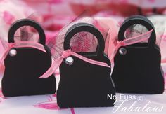Pink & Black party favors:)