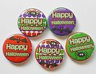 Happy Halloween Flatback Pin Back Buttons 1 for Bows Embellishment - Halloween Flatback Pins Happy Halloween, Embellishments, Coasters, Bows, Scrapbook, Buttons, Ornaments, Arches, Coaster