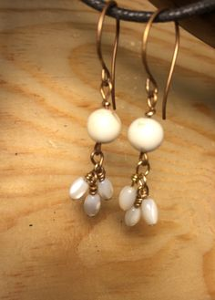 I'm loving making jewelry again!  Easy fun earrings that will go with anything....