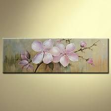 Floral/Botanical Oil Painting Hand-Painted Canvas Wall Art Floral One Panel… Oil Painting Flowers, Abstract Flowers, Texture Painting, Painting & Drawing, Hand Painted Canvas, Canvas Wall Art, Arte Floral, Tree Art, Art Pictures