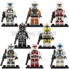 Star Wars Clone Trooper Figure Single Sale POGO8078 Stormtrooper Building Block Model Bricks Toys