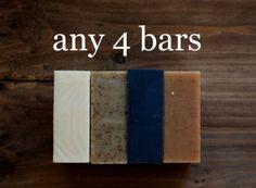 4 Bars of Handmade Soap  FLAT SHIPPING in Canada by AnitasLaLaLand, $25.00