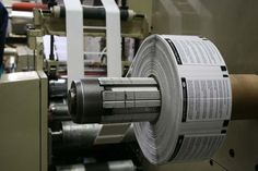 Booklet labels printing on a flexo press