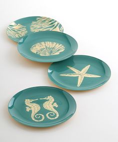 Look at this Glass Mare Plate Set on #zulily today!