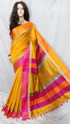 Select Maheshwari Silk Sarees with Upto OFF Indian Designer Sarees, Silk Sarees Online, Sari, Stuff To Buy, Collection, Fashion, Saree, Moda, Fashion Styles