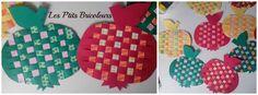 Φθινόπωρο - lesptitsbricoleurss σελίδα Jimdo! Kirigami, Apple Template, Autumn Art, Tree Crafts, Apple Tree, Pot Holders, Crafts For Kids, Creations, Weaving