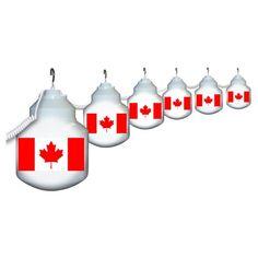 Polymer Products LLC Canadian Flag Six Globe String Light Set, As Shown