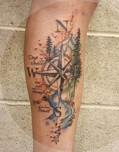 This is undeniably one of the most beautiful tattoos I've even seen! 100 Awesome Compass Tattoo Designs <3 <3