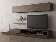 Createch Design - Config Syné F room Modern Modern Tv Room, Modern Tv Wall Units, Modern Tv Cabinet, Living Room Tv Unit Designs, Living Room Wall Units, Tv Cabinet Design, Tv Wall Design, Tv Unit Furniture, Furniture Design