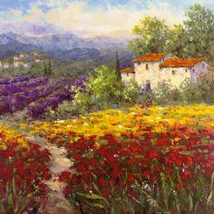 Lavendar Tuscan Field by Hulsey25300