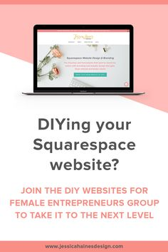 DIYing your Squarespace website? If you want to take it to the next level, join the Facebook group, DIY Websites for Female Entrepreneurs. It's a great community with weekly live training that will help you take your website to the next level so you can attract and book more clients online Diy Websites, Branding Design, Entrepreneur, Web Design, Join, Training, Community, Group, Facebook