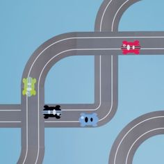 This site has such cool stuff for decorating kids room.  www.landofnod.com  Racing Wall Decals  | LandOfNod