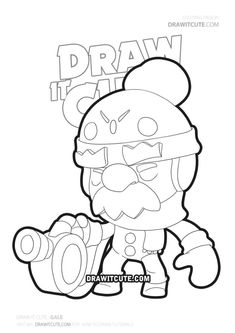 How to draw Gale from Brawl Stars - Draw it cute Star Coloring Pages, Marvel Coloring, Star Logo, Anne Of Green Gables, Angels And Demons, Fun Learning, Beading Patterns, Smurfs, Fan Art