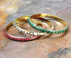 These bangles make the perfect stack. #handpicked