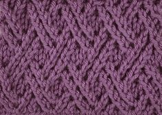 How to knit the double lattice stitch - free tutorial