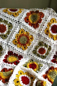 Ravelry: CascadeKnitter's Fall Blanket - love these colors
