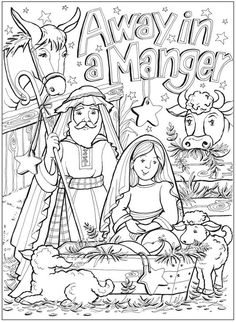 Bible Coloring Sheet Coloring Page Nativity Coloring Pages, School Coloring Pages, Bible Coloring Pages, Adult Coloring Pages, Coloring Books, Christmas Activities, Christmas Crafts For Kids, Christmas Colors, Christmas Nativity