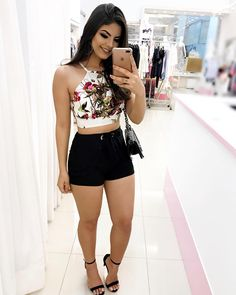 Atacado e Varejo 💕 🖥Compre pelo sit Stylish Summer Outfits, Girly Outfits, Short Outfits, Classy Outfits, Short Dresses, Casual Outfits, Cute Outfits, Pretty Outfits, Girls Fashion Clothes