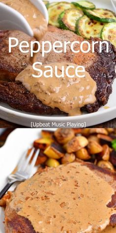Peppercorn sauce is a great steak sauce that is easy to make and tastes absolutely perfect on steaks as well as chicken. It's a classic steakhouse sauce that will only take you 5 minutes to make and features crushed peppercorns, shallot, cognac, beef stock, and cream.