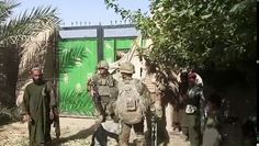 The work of the Royal Marines' Lima Company, whose job is to protect a deserted village to the north of Nad-e Ali in Helmand Province Military Videos, Military News, Military History, British Royal Marines, British Armed Forces, Naval History, Us History, Ww2 Reenactment, The Blitz Ww2