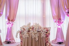 Pink and Gold Sweetheart Table  Photography: Rad Photographer Read More: http://www.insideweddings.com/weddings/cultural-bangladeshi-mehendi-pink-white-gold-new-york-wedding/626/