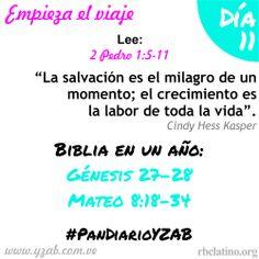 #PanDiarioYZAB Día 11: Empieza el viaje Biblia en un año: Génesis 27–28 y Mateo 8:18-34 Más detalles: http://wp.me/pDTtq-lq #YZAB #EVOLUCIÓN #Espiritualidad #EstilismoEspiritual