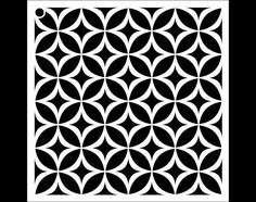 Circle Star Pattern Stencil  Select Size  STCL1022 by por StudioR12