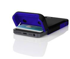 The Incipio Stashback flips open to reveal a secret slot that discreetly stashes up to three credit cards or IDs. The flip-up door also allo...