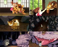 Clips from Mei and the Baby Cat Bus one of the animated shorts exclusively screened at the Studio Ghibli Museum! Studio Ghibli Art, Studio Ghibli Movies, Manga Anime, Anime Art, Film Animation Japonais, Japon Illustration, Castle In The Sky, Film D'animation, Howls Moving Castle