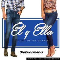 Nuestro recomendado, para lucir este fin de año, es el tono medio en tus #PetrolizadoJeans, lúcelo con tu blusa o camisa favorita. #FamiliaNavideñaPetrolizado
