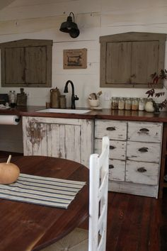 a fine farmhouse: kitchen Acupboard like one ofthese would make a fine cupboard for hanging a flat screened TV in