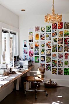 home office of 'Yummy Supper' author Erin Scott #food   home office inspiration