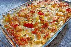 Nudelauflauf mit Zucchini und Paprika von LenchenR | Chefkoch  Vegane Rezepte Nudelauflauf mit Zucchini und Paprika (Rezept mit Bild) | Chefkoch.de