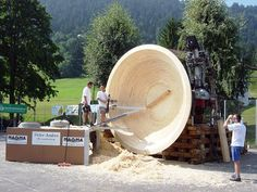 The biggest wooden bowl | Woodworking ideas