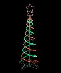This 6' Red & Green Spiral LED Tree is perfect! #zulilyfinds